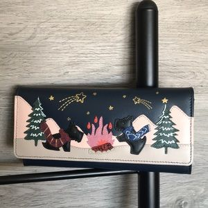 NWT-Radley London Large Leather Wallet, Star Gaze